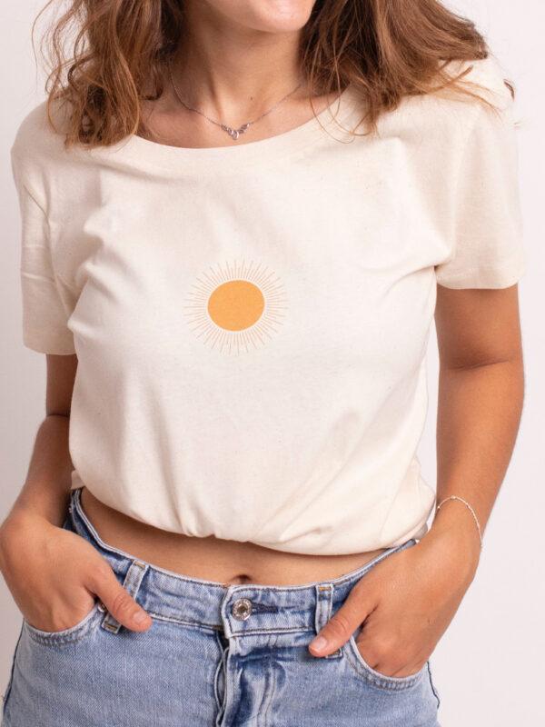 camiseta algodon organico Atrend organic sol